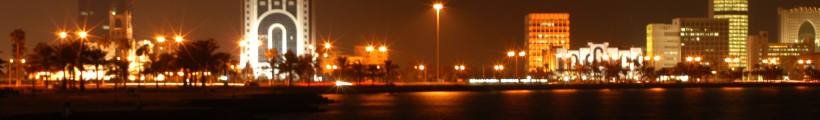 doha_in_night.jpg Qatar travel and tours, Hotel in Doha desert safari